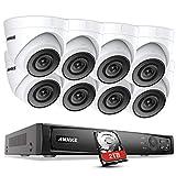 ANNKE H.265 Pro+ 5MP PoE Überwachungskamera System Set,4K 8CH Videoüberwachung NVR Rekorder 2TB Festplatte mit 8X 5MP HD IP Kamera,für Aussen Innen,EXIR Nachtsicht, Bewegungserkennung